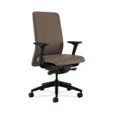 Nucleus Upholstered Back Task Chair with Adjustable Arms in Grade IV Whisper Vinyl