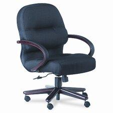 Pillow-Soft Wood Series Mid-Back Chair, Mahogany/Tectonic Black