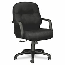 Pillow-Soft Mid-Back Office Chair with Arms