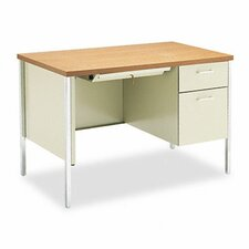 34000 Series Computer Desk with Single Right Pedestal