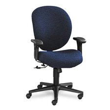Unanimous Mid-Back Task Chair, Navy Blue Fabric