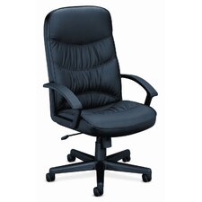 Basyx Leather High-Back Swivel / Tilt Chair