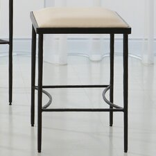 "Hammered 21.5"" Bar Stool with Cushion"