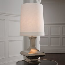 "Hammered 44"" H Table Lamp with Empire Shade"