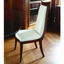 Elegant Deco Leather Parson Chair
