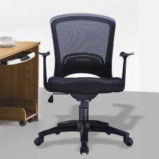 Classic Low-Back Mesh Conference Chair with Adjustable Height