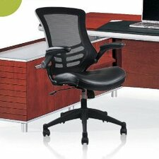 Rugged High-Back Mesh Conference Chair with Wheels