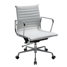 Metro Mid-Back Leather Adjustable Office Chair