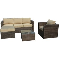 Paisley 4 Piece Deep Seating Group with Cushion