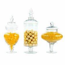 3 Piece Couture Apothecary Jar Set