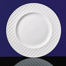 "Night & Day 10.7"" Checkerboard Dinner Plate"