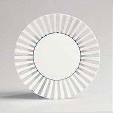 """Platinum Fine Bone China 9"""" Striped Plate"""