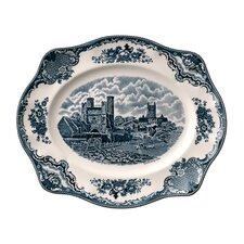Old Britain Castles Blue Oval Platter
