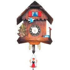 Carved Chalet Wall Clock