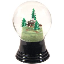 Chalet Amongst Trees Snow Globe