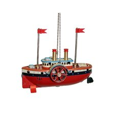 Collectible Steam Boat Tin Ornament