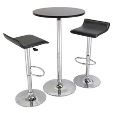 3 Piece Pub Round Table Set