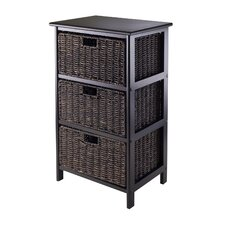 Omaha 3 Drawers Storage Rack with Foldable