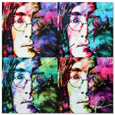 'John Lennon Beatles' Colorful Urban Pop Art Wall Clock