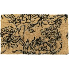 Handmade Ink Bouquet Doormat