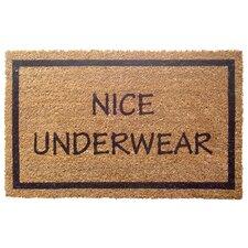 Sweet Home Nice Underwear Doormat
