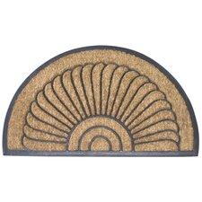 Handmade Shell Half Round Doormat