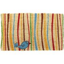 Handmade Little Groovy Bird Doormat