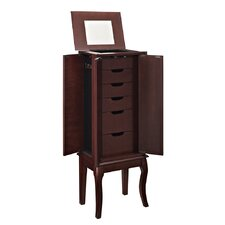 Marseilles Java Jewelry Armoire with Mirror