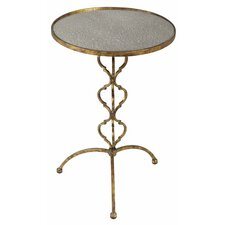 Alana Antique Mirrored Glass End Table