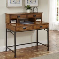 Modern Craftsman Computer Desk with Hutch and Keyboard Tray