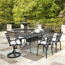 Largo 7 Piece Dining Set with Cushions (Set of 7)