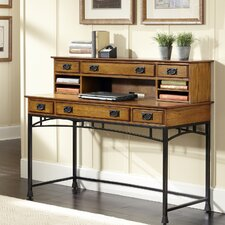 Modern Craftsman Computer Desk with 1 Right & 1 Left Drawer