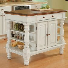 Americana Kitchen Island in Antiqued White