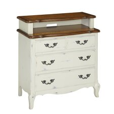French Countryside 4 Drawer Media Chest