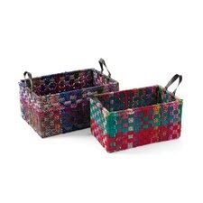 Rectangle Woven Fabric Basket