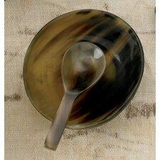 2 Piece Horn Serving Bowl Set