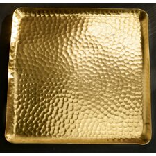 Gilded Square Hammered Tray