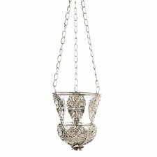 Embellished Hanging Silver Candle Cup