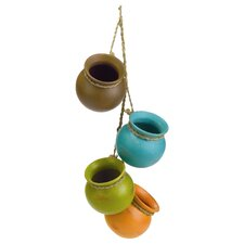 4 Piece Dangling Decorative Santa Fe Pot Set