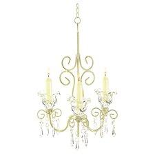 Iron & Acrylic Rococo Crystal Chandelier