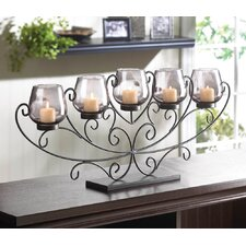 Twilight Splendor Iron Candleholder