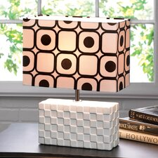 "Geometric Pop Art 14.5"" H Table Lamp with Rectangular Shade"