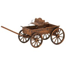Novelty Buckboard Wheelbarrow Planter
