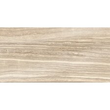 "Eramosa Series 24"" x 12"" Polished Porcelain Field Tile in Sand"