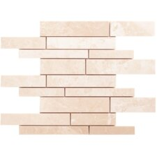 Alara Crema Random Sized Marble Polished Mosaic in Beige