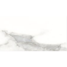 "Calacatta High Definition 12"" x 6"" Porcelain Glossy Tile in White"
