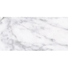 "Carrara Extra High Definition 24"" x 12"" Porcelain Matte Tile in White"