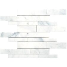 Carrara Random Sized Extra Marble Polished Mosaic in White