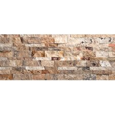 Nebula Travertine Split Face Random Sized Wall Cladding Tile in Mix Rustic