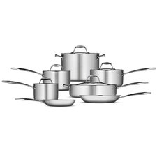 Gourmet 18/10 Stainless Steel Induction-Ready 12-Piece Cookware Set